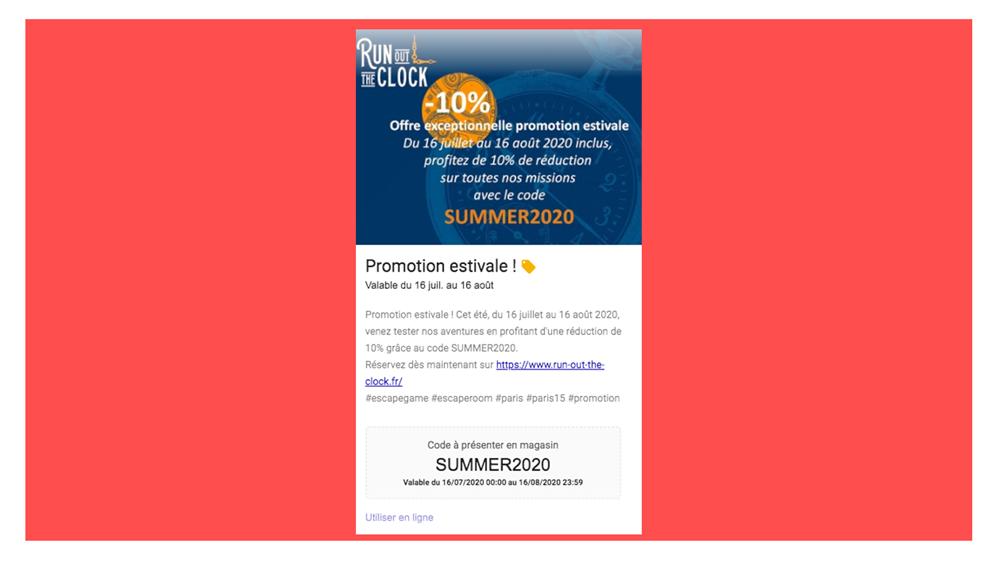 promotion et offre google posts