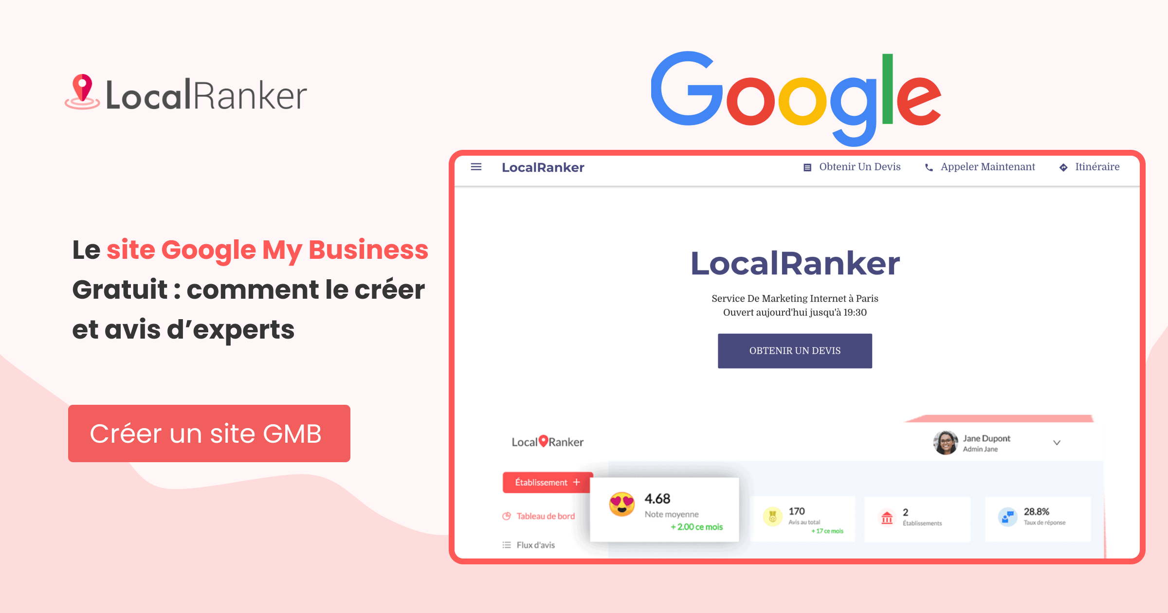 site web google mY business