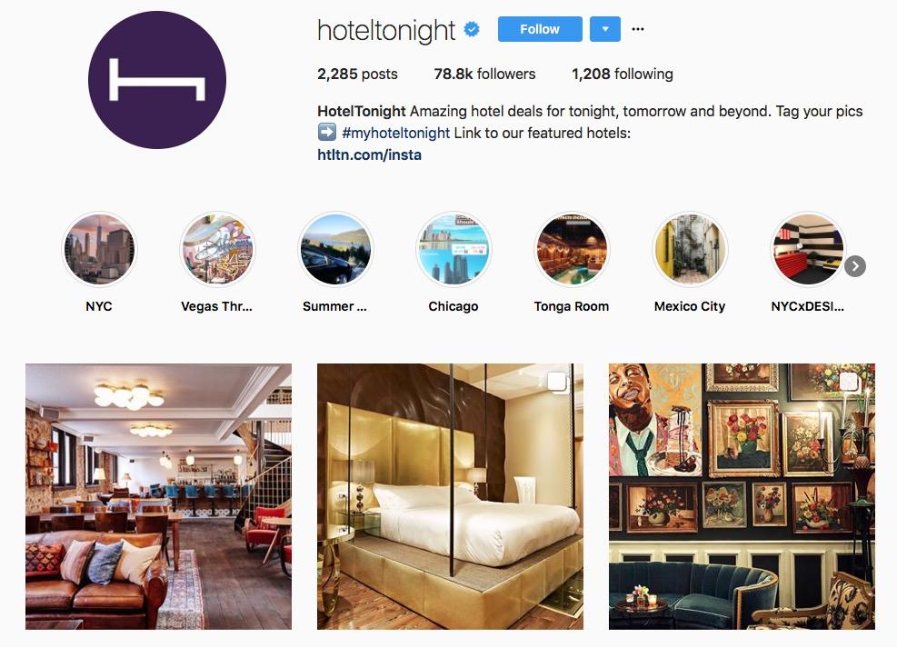 Instagram pour hôtel