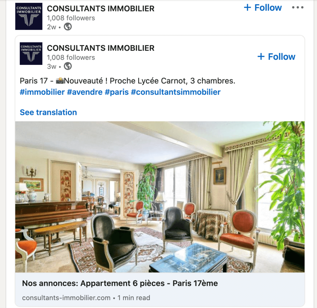 consultant immobilier linkedin