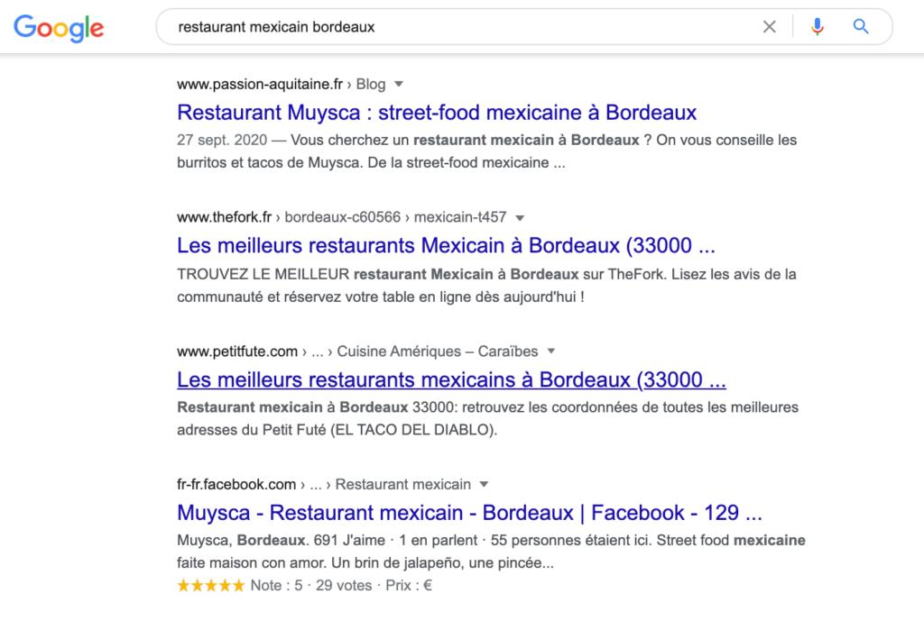 référencement restaurant
