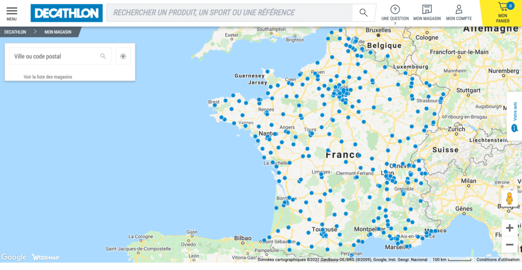 Store locator decathlon